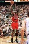 With 5.2 seconds left in the game Michael Jordan o