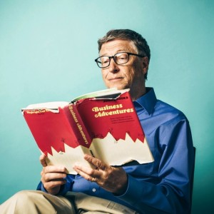 Bill Gates reading Business Adventures