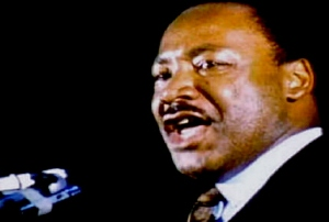 Martin Luther King Jr., speaking on the last night of his life