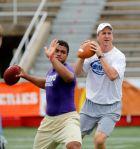 Peyton Manning running drills