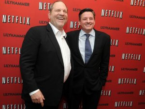Harvey Weinstein, left, with Netflix chief content officer Ted Sarandos