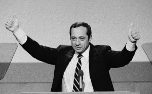 Mario Cuomo during his most famous speech, at the Democratic Convention in 1984