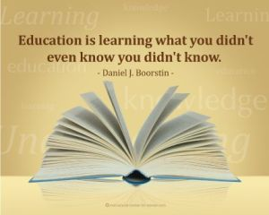 Learning, Boorstin