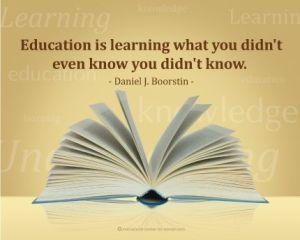 Learning, Boorstin