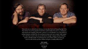 Ed Catmull, Steve Jobs, John Lasseter
