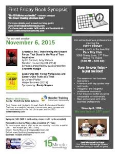 November, 2015 FFBS Flier