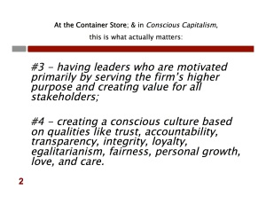 Conscious Capitalism Four Key Tenets 2