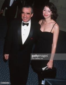 Illeana Douglas and Martin Scorsese