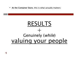 Resutls + Valuing your people copy