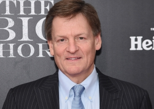 Michael Lewis at the premiere of The Big Short