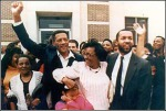Walter McMillian on the day he was set free