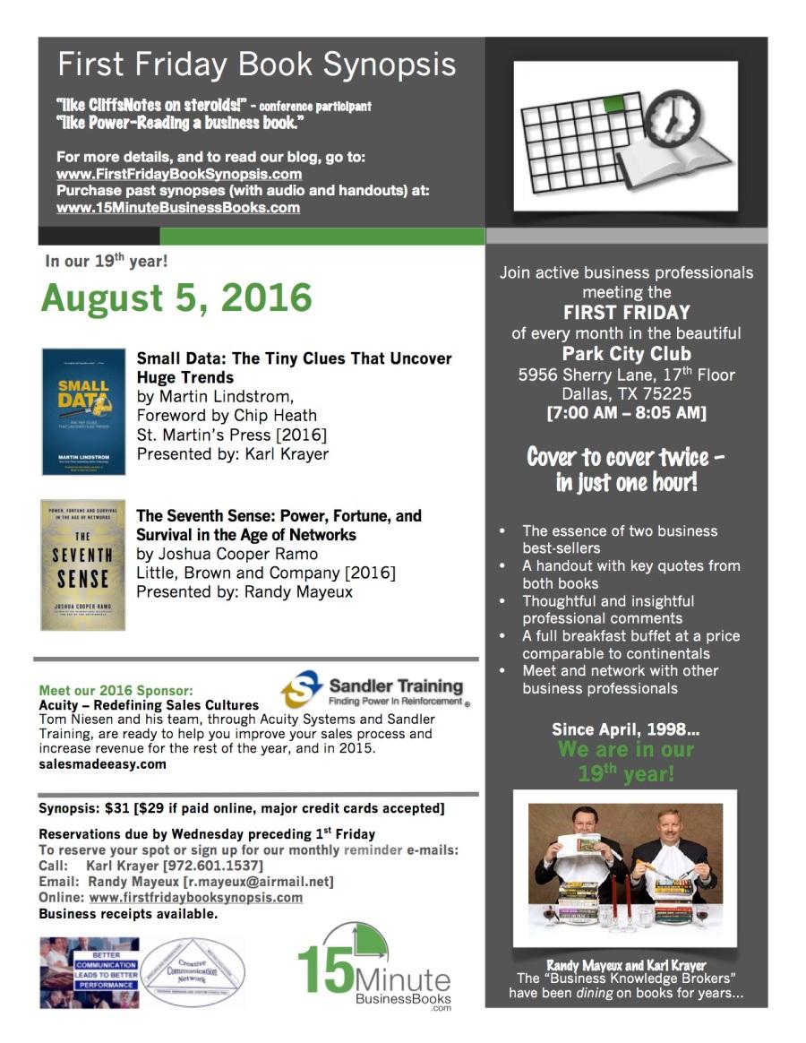August, 2016 FFBS Flier