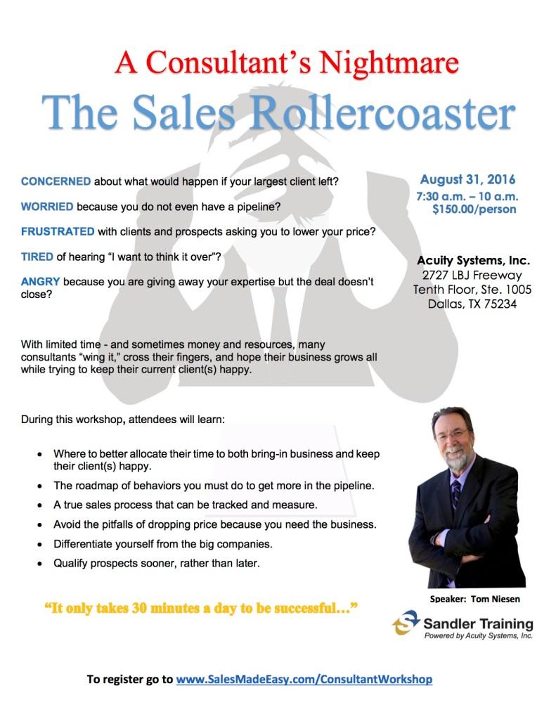 Sales Rollercoaster