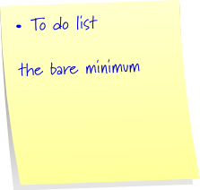 the bare minimum 2